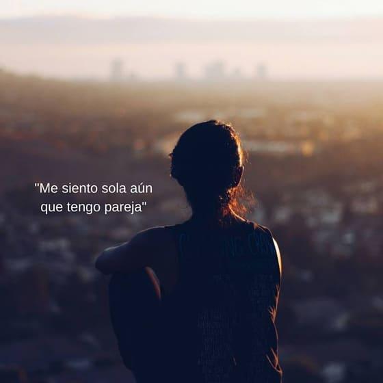 Aún que estamos en pareja podemos sentirnos solos y sin amor