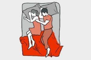 compatibilidad con una persona por la forma de dormir juntos