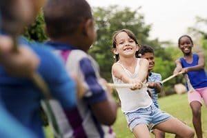 niños jugando test de personalidad para niños
