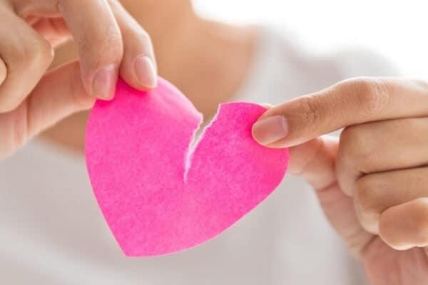 dibujo corazón roto romper relación
