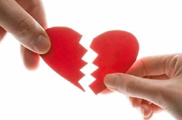 fotografía corazón roto de relación